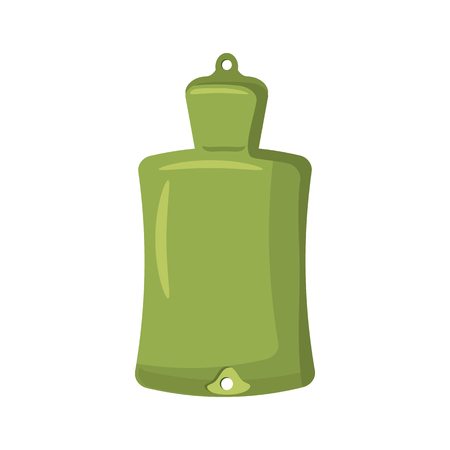 warmer: Green rubber warmer icon in cartoon style on a white background Illustration