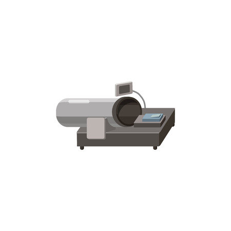 x ray machine: Magnetic resonance tompgraph MRI icon in cartoon style on a white background