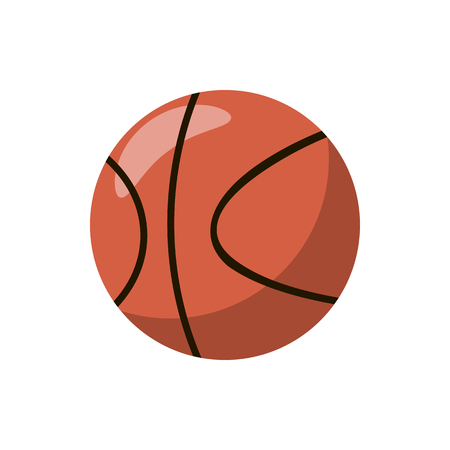 indoor court: Basketball ball icon in cartoon style on a white background Illustration