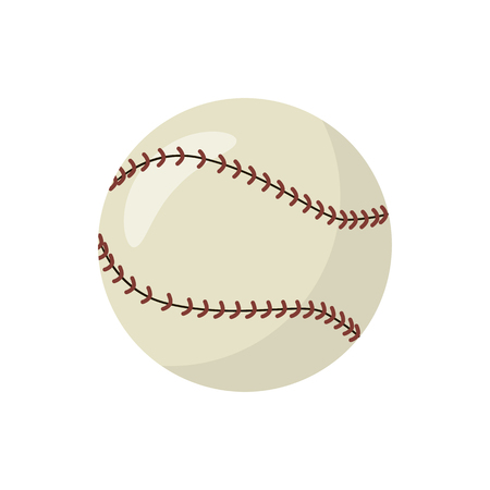 leather stitch: Baseball icon in cartoon style on a white background Illustration