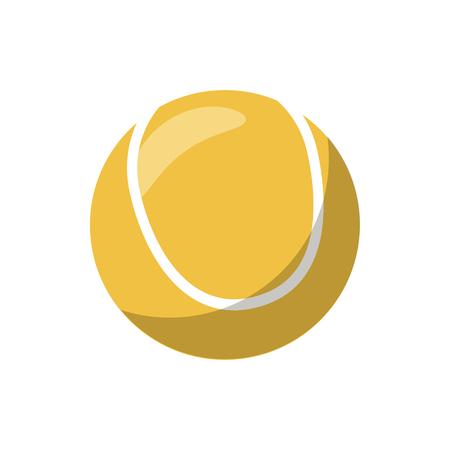 wimbledon: Tennis ball icon in cartoon style on a white background