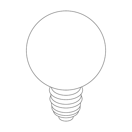 filament: Light bulb icon in isometric 3d style isolated on white background Illustration