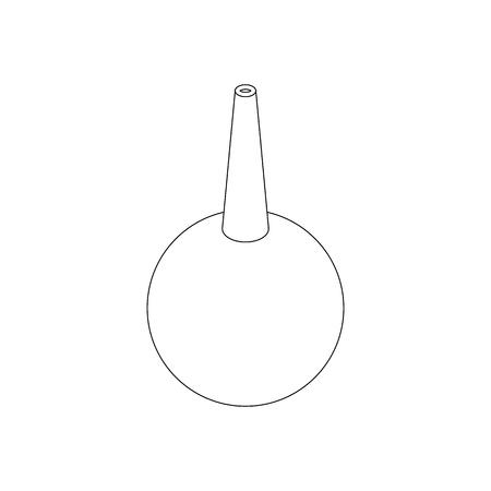 einlauf: Enema Symbol in der isometrischen 3D-Stil isoliert auf weißem Hintergrund Illustration