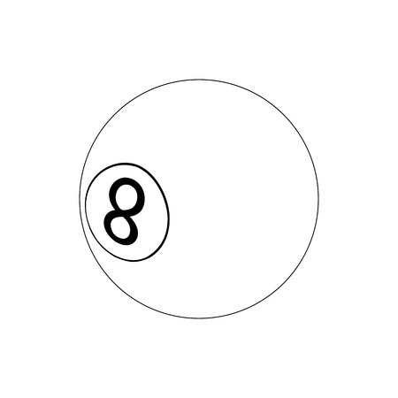pool ball: Pool ball icon in isometric 3d style isolated on white background. Billiard eight ball
