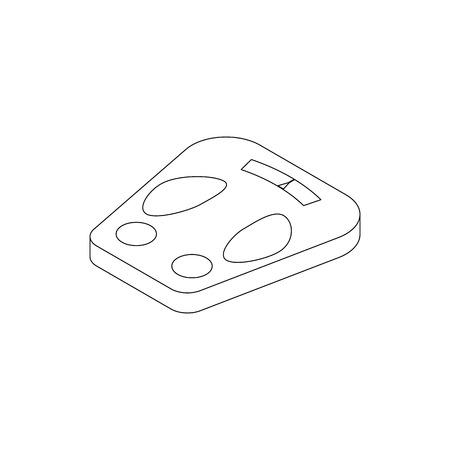 白い背景で隔離等角投影の 3d スタイルで重量のスケールのアイコン  イラスト・ベクター素材