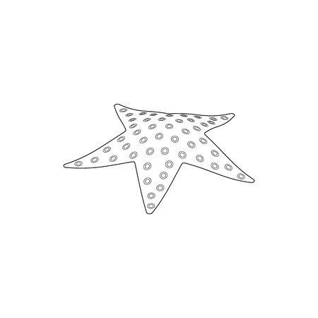 finger fish: Starfish icon in isometric 3d style isolated on white background Illustration