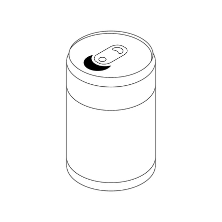 soda can: Soda can icon in isometric 3d style isolated on white background