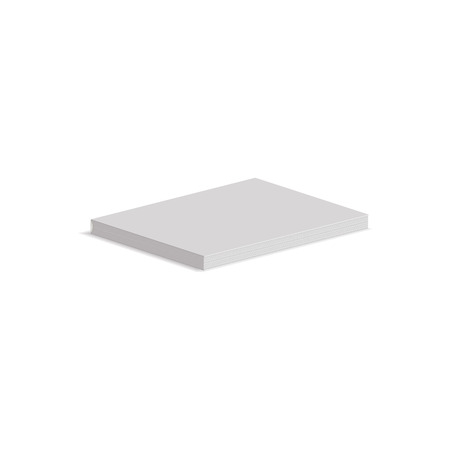 empty pocket: Mock up white empty book icon in isometric 3d style isolated on white background. Horizontal view