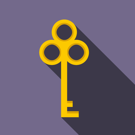 disclosure: Cold key icon in flat style on a violet background Illustration