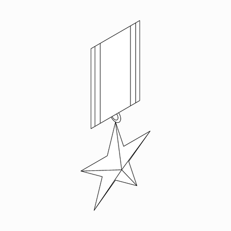 Order star icon in isometric 3d style on a white background Illustration