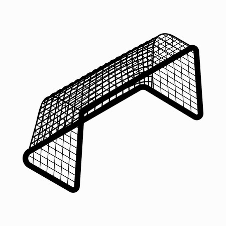 Soccer goal icon in isometric 3d style on a white background