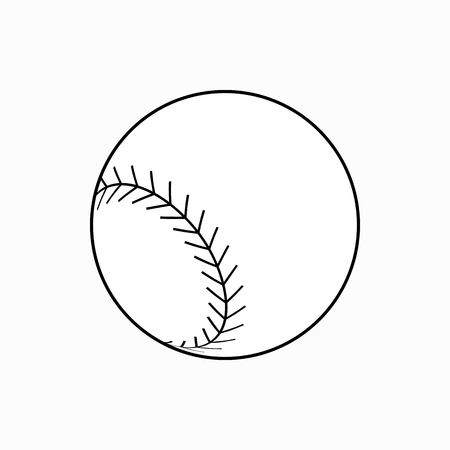 major league: Baseball ball icon in isometric 3d style on a white background Illustration
