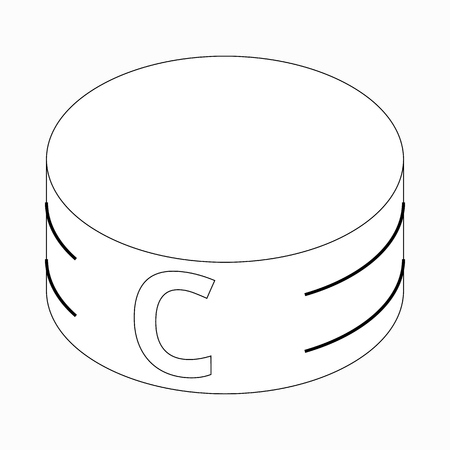armband: Captain armband icon in isometric 3d style on a white background