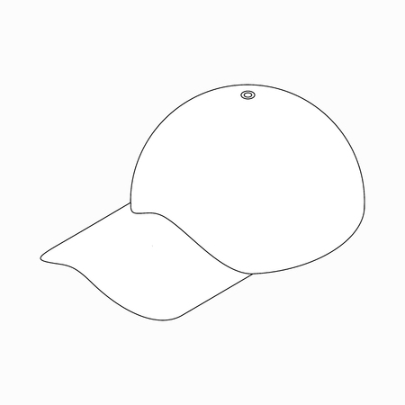peak hat: Baseball hat icon in isometric 3d style on a white background