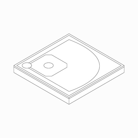 outfield: Baseball field icon in isometric 3d style on a white background
