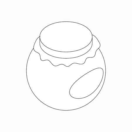 preservation: Round jar icon in isometric 3d style isolated on white background Illustration