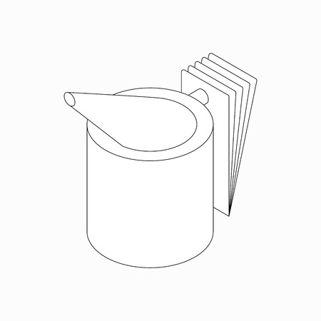 beekeeper: Beekeeper smoker icon in isometric 3d style isolated on white background