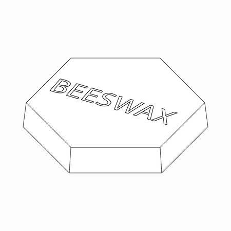 beeswax: Beeswax icon in isometric 3d style isolated on white background Illustration