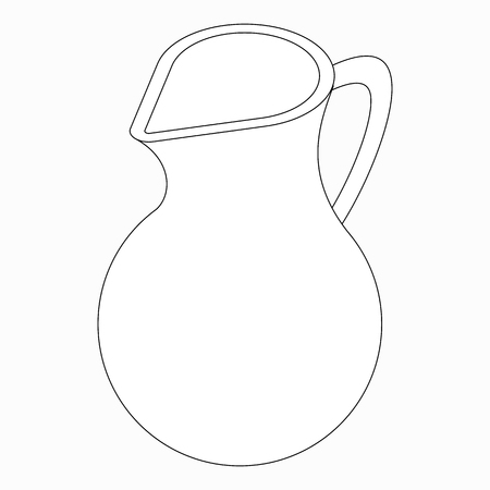 Jug icon in isometric 3d style isolated on white background Vector Illustration