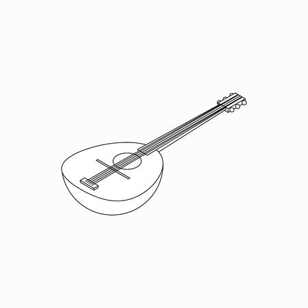 resonator: Banjo icon in isometric 3d style isolated on white background