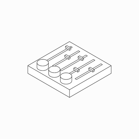 mixer console: Sound mixer console icon in isometric 3d style isolated on white background