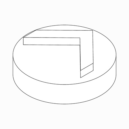 simplistic icon: Single modern arrow icon in isometric 3d style isolated on white background