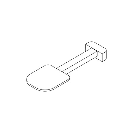 unearth: Multifunction spade icon in isometric 3d style on a white background