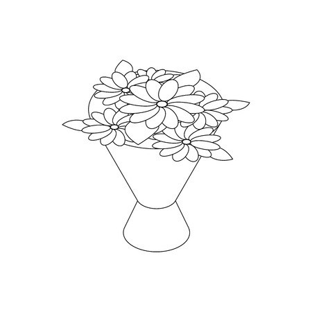 wedding reception decoration: Bouquet icon in isometric 3d style on a white background Illustration