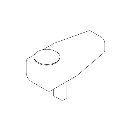 feeder: Feeder of paintball gun icon in isometric 3d style isolated on white background