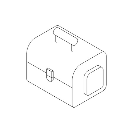 resistant: Camera bag icon in isometric 3d style on a white background
