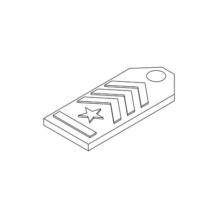 affiliation: Shoulder strap icon in isometric 3d style on a white background