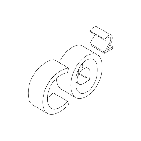 co2: CO2 icon in isometric 3d style on a white background Illustration