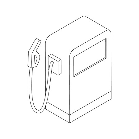 unleaded: Gas station icon in isometric 3d style on a white background Illustration