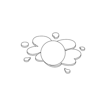 detonation: Paintball ball icon in isometric 3d style isolated on white background