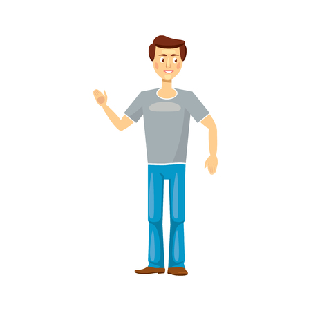 fatherhood: Dad icon in cartoon style on a white background
