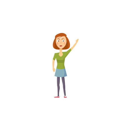 juvenile: Girl icon in cartoon style on a white background