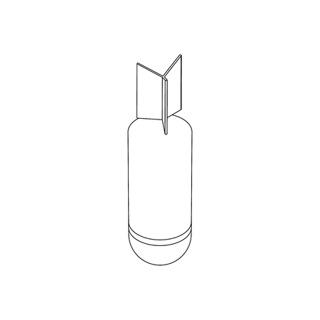rocket bomb: Rocket bomb icon in isometric 3d style on a white background