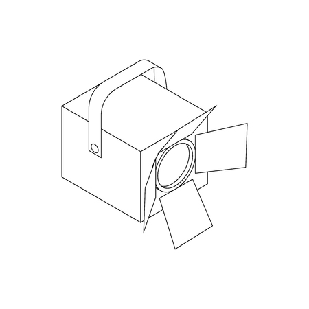 strobe light: Spotlight icon in isometric 3d style on a white background