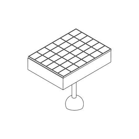 environmental analysis: Solar battery icon in isometric 3d style on a white background