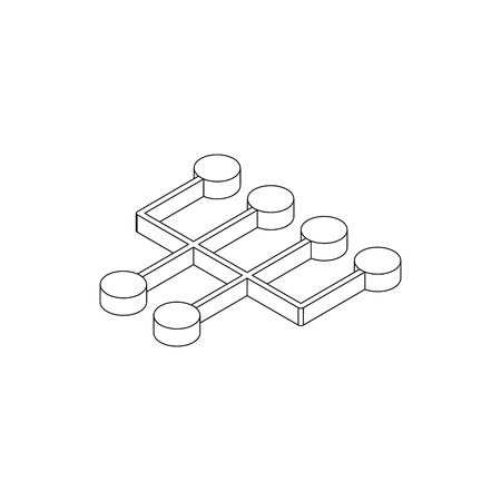shifter: Transmission icon in isometric 3d style isolated on white background. Circle buttons