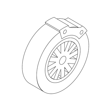 brake pad: Brake block icon in isometric 3d style isolated on white background