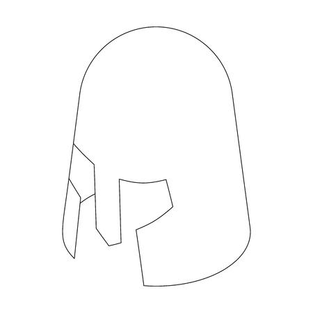 crusader: Helmet crusader icon, isometric 3d style isolated on white background. Black illustration for web Illustration