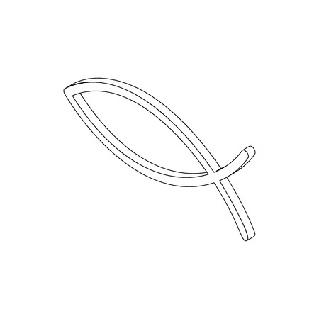 ichthys: Ichthys fish symbol in isometric 3d style isolated on white background Illustration