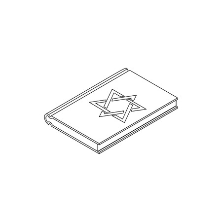 pentateuch: Talmud pentateuch in isometric 3d style isolated on white background Illustration