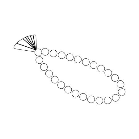 muslim prayer: Muslim prayer rosary islam symbol icon isometric 3d style. Black illustration on white for web Illustration