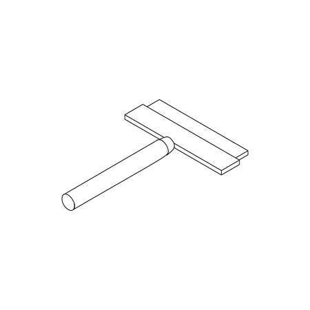 squeegee: Brush squeegee for windows icon in isometric 3d style isolated on white background. Cleaning