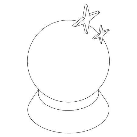 magic ball: Magic ball icon in isometric 3d style on a white background