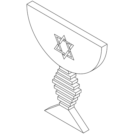 judaic: Judaic bowl icon in isometric 3d style isolated on white background