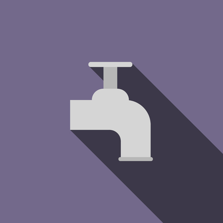 Beer tap icon in flat style with long shadow