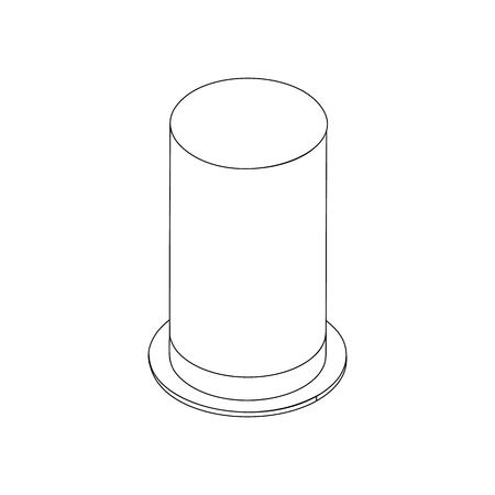 cylindrical: Top hat with high cylindrical crown icon in isometric 3d style isolated on white background Illustration